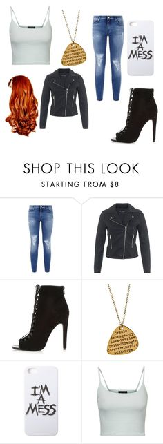 """""""My #r5family style"""" by karolina-kamhalova on Polyvore featuring 7 For All Mankind, Miss Selfridge, River Island, Miriam Merenfeld, LAUREN MOSHI and Topshop"""