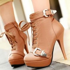 strap up stilleto heels | Sexy Shiny Ankle Beaded Strap Tassel Heeled Bridal Wedding Court Shoes ... High Heel Boots, Heeled Boots, Bootie Boots, High Heels, Crazy Shoes, Me Too Shoes, Louboutin Shoes, Shoes Heels, Fly Shoes