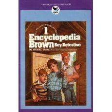 """Encyclopedia Brown -Boy Detective""- This series of books was one of my favorites.  I liked that you could solve the mystery as you read the story!  The link goes to The Kindled Scholar blog- RRM"