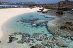 Asyiknya berenang di Pantai Tanjung Bongoq, Lombok #Indonesia #Lombok #Pesonalombok #Pantaitanjungbongoq #pantaidilombok #beach #explorelombok #exploretocreate #jelajahnusantara #kelilingIndonesia