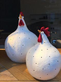 Ostern papier mache chicken, # chicken # paper mache, section, diy section, Ladder Safety Tips Chicken Crafts, Chicken Art, Paper Mache Crafts, Clay Crafts, Ceramic Birds, Ceramic Art, Ceramic Pottery, Paper Clay, Clay Art