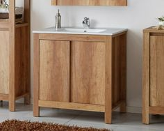 Bathroom Vanity Unit 800mm 80cm Floor Standing Sink Cabinet & Basin Classic Oak · $199.95 Vanity Units Uk, Oak Vanity Unit, Cloakroom Vanity Unit, Freestanding Bathroom Storage, Wooden Bathroom, Vanity Basin, Small Sink, Simple Furniture, Bathroom Design Small