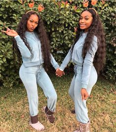 Sisters Goals, Bff Goals, Best Friend Goals, Squad Goals, Twin Outfits, Matching Outfits, Cute Outfits, Best Friend Outfits, Girl Gang