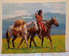 Pastel Sec pour Tableau Ethnique * L'INDIEN * - Création Originale : Accessoires de maison par diva-divine