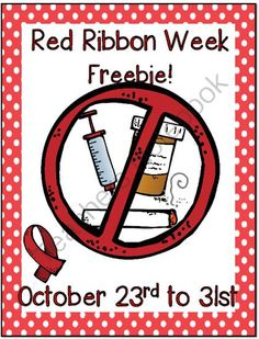 Red ribbon week freebies 2018
