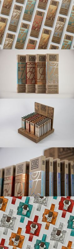44 Amazing Chocolate Branding and Packaging for Quick Inspiration CRUDE — Raw Chocolate by Happycentro Design Cool Packaging, Food Packaging Design, Coffee Packaging, Packaging Design Inspiration, Brand Packaging, Packaging Ideas, Product Packaging Design, Bottle Packaging, Design Typo