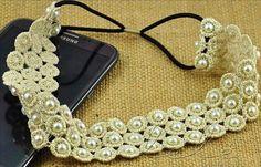 Spitze perle stirnband mode breites bohermia perlen hairdband haar zubehör