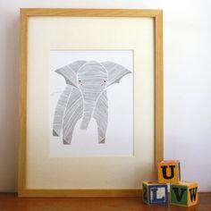 Elly Elephant Illustration - darlingclementineshop.com