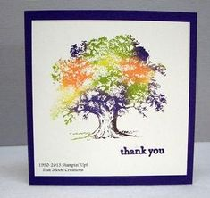 Lovely as a Tree card by Anne Hayward using the Baby Wipe Technique... includes tutorial