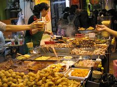 Hong Kong street food. Just looking at this picture makes me cry with longing. I could eat this stuff for the rest of my life and be happy.
