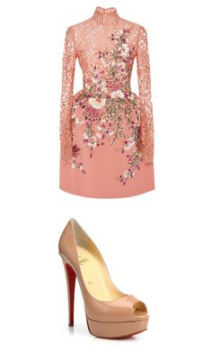 """""""Sem título #109"""" by ognl on Polyvore featuring moda, Georges Hobeika e Christian Louboutin"""
