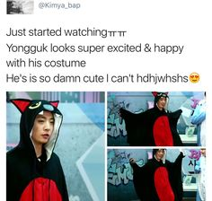 YONGGUK IS A BAT AND HE LOVES IT AND I LOVE IT AND HES MY FAVORITE