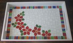 Bandeja com flores, by Schandra Mosaico