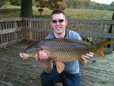Another sweet 17 lb common carp caught in the Occoquan Reservoir in Virginia.