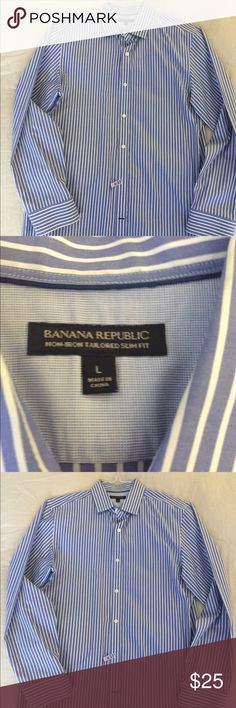 Banana Republic men's non iron Button Down size L Great condition Men's size L Banana Republic Shirts Dress Shirts