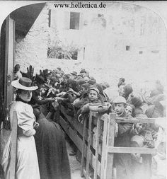 Ladies of Athens feeding the Cretan refugees, Athens, Greece - 1897 From the Library of Congress Greece Pictures, Time Pictures, Old Pictures, Old Photos, Greece Photography, History Of Photography, Greek History, Women In History, Photographs Of People