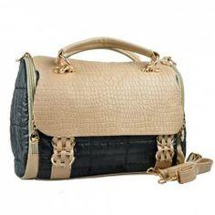 $19.96 Stylish Office Lady Style Checked Embossing Embellished Zipper and Covered Design Handbag/Slanting Bag/One-Shoulder Bag For Female