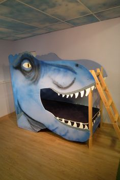 Children's dinosaur bed