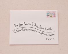 Hand Lettered Wave Recipient Address Printable Envelope Template from…