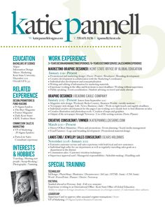 Fun Resume By Michelle Burkhardt Via Behance  Design