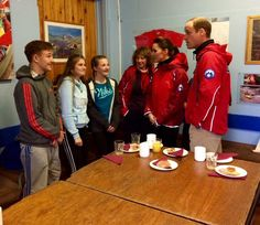 The Duke & Duchess meet young people @mountrescueuk Snowdonia who have worked with @monagwyneddmind on mental health