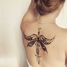 sexy butterfly pattern henna design tattoo