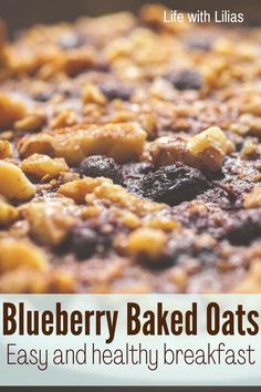 1 hour · Vegetarian Gluten free · Serves 6 · The BEST blueberry baked oats you'll ever try. My whole family loves this blueberry baked oats recipe - its easy and delicious, plus you can easily adjust ingredients for food allergies or special… Yogurt Breakfast, Breakfast Pancakes, Breakfast On The Go, Breakfast Recipes, Baked Oatmeal Recipes, Baked Oats, Oats Recipes, Clean Eating Recipes For Dinner, Recipes For Beginners