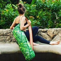 The Coolest Green Yoga Bag by FLORYPONDIA on Etsy