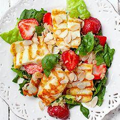 Fruit Salad, Cobb Salad, Healthy Recipes, Healthy Food, Halloumi, Grilling, Dinner Recipes, Food And Drink, Menu
