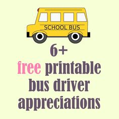 Free printable school bus driver appreciations - round-up | MeinLilaPark – DIY printables and downloads