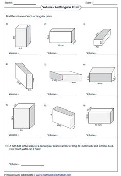 great resource for math worksheets and practice problems - Surface Area And Volume Worksheet