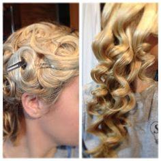 Pin Curls 15 Minute Curls (No Heat) Christmas Hair - Coiffure Hair, Curls No Heat, Heat Waves, Quick Curls, Soft Curls, Loose Curls, Natural Curls, Overnight Curls, No Bad Days