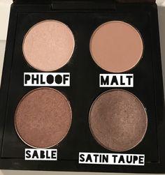 Mac ombres à paupière : Phloof Malt Sable et Satin taupe #palettedeweekend