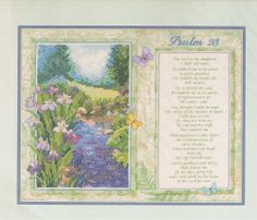The Lord Is My Shepherd Psalm 23 Needlework Stamped Cross Stitch Find this on Lenarow Limited's ebay store or Instore at Wools & Crafts 169 Blackstock Rd London N4 2JS tel 0207 359 1274