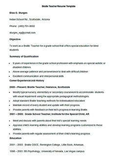 Resume Format For Teachers Resume Format Teacher  Pinterest  Sample Resume And Resume Format
