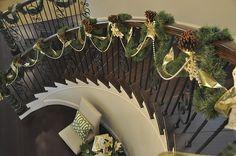 christmas staircase garland.