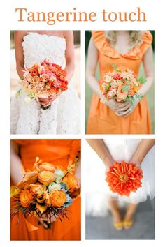 Tangerine touch � Wedding ideas