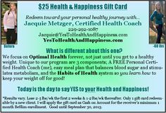 It's my birthday week so in celebration, I'm sharing this coupon to any new clients this month.  I'd love to help more people! yestohealthandhappiness.com