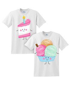 Love this White Cake & Ice Cream Tee Set - Toddler & Girls on #zulily! #zulilyfinds