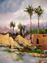 The Nile, Oil on canvas