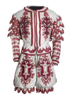 This costume was worn by the clown Joseph Grimaldi when performing on the London stage.