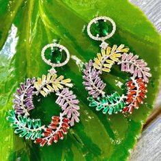KC JAT Designs Multicolor Crystal Earrings!!