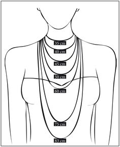 great guide to necklace lengths in cm