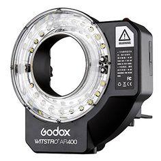 ROYO Godox Witstro AR400 400W Ring Flash Speedlite with LED Video Light
