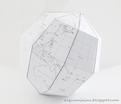 sectional globe- globo terráqueo papel- nordic decoration - diy