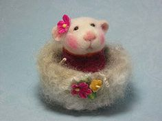 Adorable felted mice