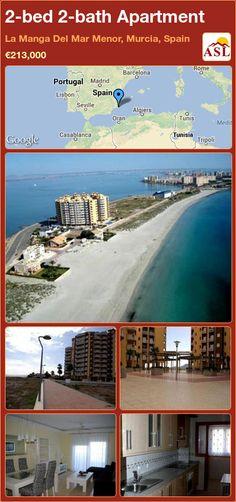 2-bed 2-bath Apartment in La Manga Del Mar Menor, Murcia, Spain ►€213,000 #PropertyForSaleInSpain