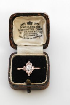 Dream Engagement Rings, Halo Diamond Engagement Ring, Vintage Engagement Rings, Vintage Rings, Wedding Engagement, Wedding Rings, Perfect Wedding, Dream Wedding, Wedding Day