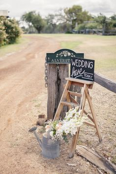 pretty little display...  Read More: http://www.stylemepretty.com/australia-weddings/2014/08/07/beautiful-country-wedding/
