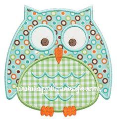 Owl 6 Applique Design